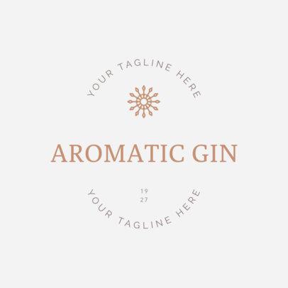 Alcohol Logo Maker for Gin Brands 1207c