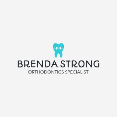 Dental Clinic Logo Maker for Orthodontics 1026e