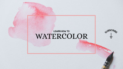 YouTube Banner Template with Watercolor Effect 384d