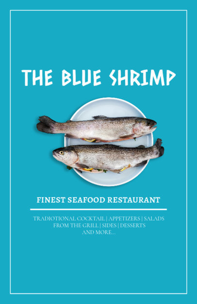 Flyer Maker for Seafood Restaurants with Mediterranean Style 361f