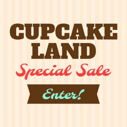 Online Banner Maker for Cupcake Bakeries 374