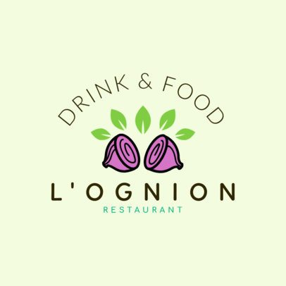 Restaurant Logo Maker for Vegetarian Restaurants 1258b