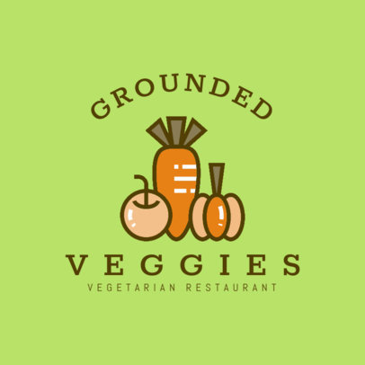 Logo Maker for Vegetarian Restaurants with Vegetable Clipart 1258d