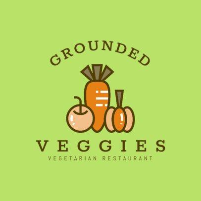 Logo Maker for Vegetarian Restaurants with Vegetable Clipart 1258d
