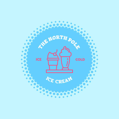 Ice Cream Logo Maker with Sprinkle Background 1262c