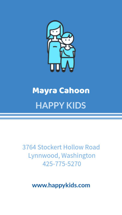 Online Business Card Maker for Childcare Services 354d