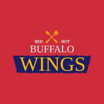 Buffalo Wings Restaurant Logo Maker 1228c