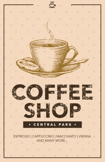Online Flyer Maker for Coffee Shops 390