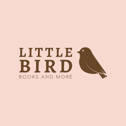 Logo Maker for Online Bookstores with Bird Icons 1265d