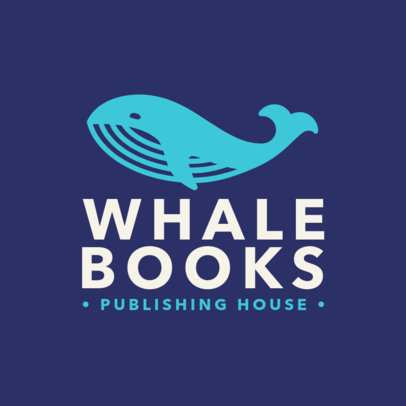 Custom Logo Maker for Publishing Houses with Whale Icons 1265h