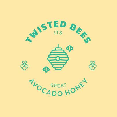Honey Bee Logo Maker 1287c