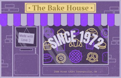 Online Flyer Maker for Bakeries with Purple Theme #310d