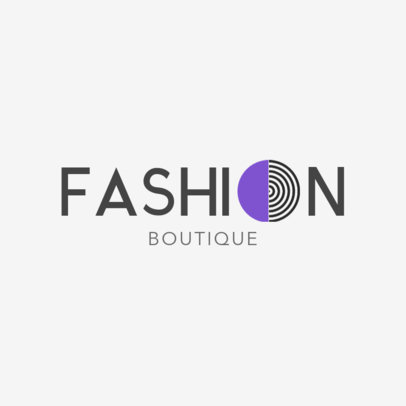 Online Logo Maker for Clothing Brands with Geometric Fonts 1290a