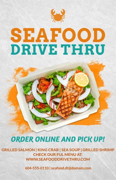 Seafood Restaurant Online Flyer Maker 381a