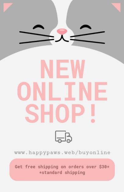 Online Flyer Maker for Online Pet Shops 398a