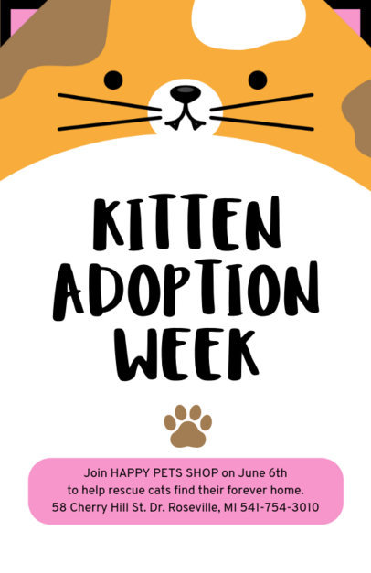Pet Adoption Online Flyer Maker 398d