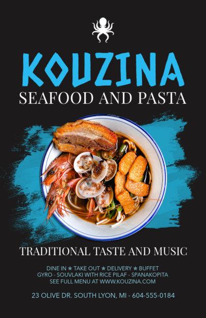 Online Flyer Maker for Pasta Restaurants 381d