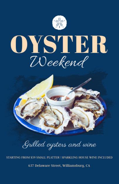Online Flyer Maker for Oyster Bars 381d