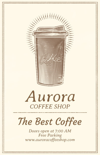 Coffee Shop Online Flyer Maker 406a