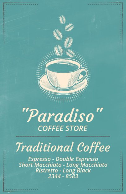 Online Flyer Maker for Coffee Shops with Coffee Cup Icon 406b