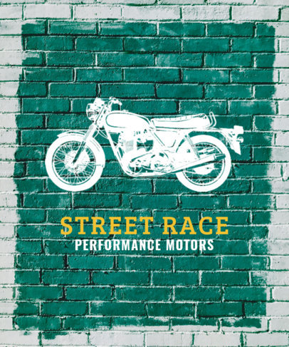 T-Shirt Design Templates with Motorcycle Graphics 330b