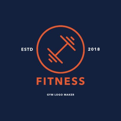 Fitness Logo Maker for Weight Training Gyms 1272b