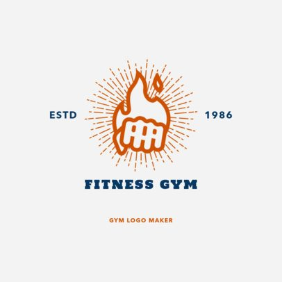Gym Logo Maker for Boxing Gyms 1272c