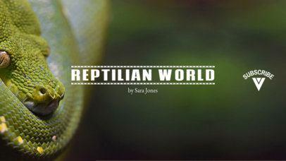 Youtube Banner Maker for Reptile Channels 418b