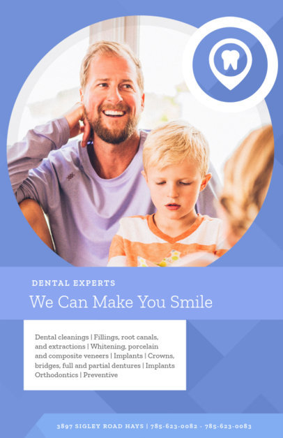 Online Flyer Maker for Dental Services 412c
