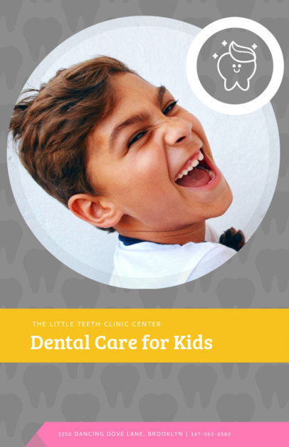Online Flyer Maker for Kids Dentist 412d