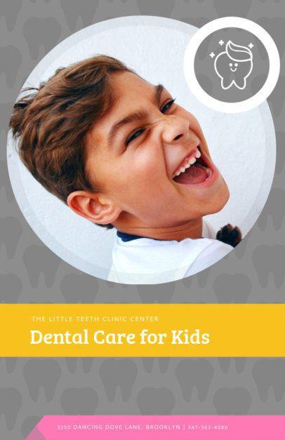 Online Flyer Maker for Kids Dentist 412d