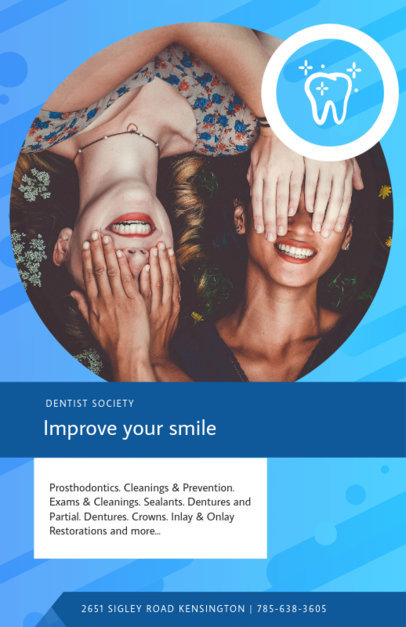 Online Flyer Maker for Dentist Societies 412E