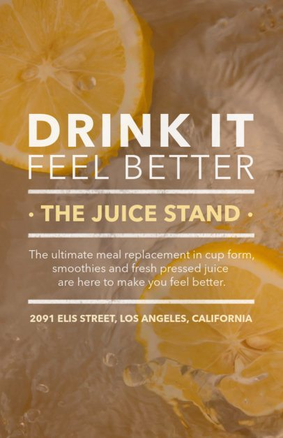 Online Flyer Maker for Healthy Smoothies 410c