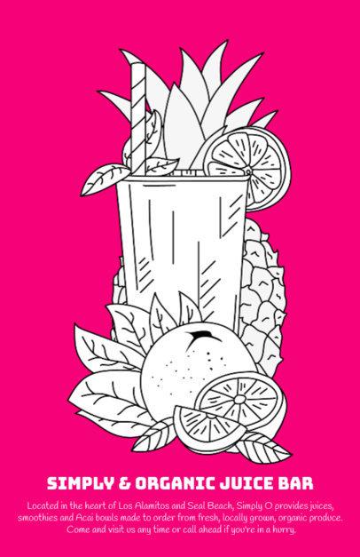 Juice Bar Online Flyer Maker 394c