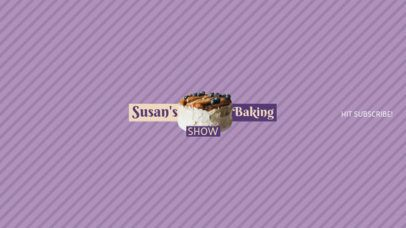 Youtube Banner Maker for Baking Youtube Channels 399a