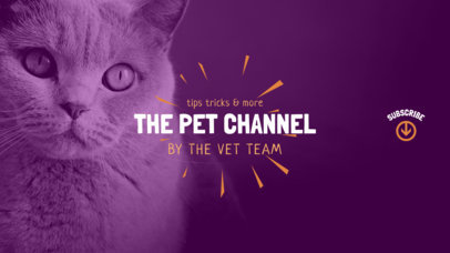 Pets Channel YouTube Banner 411