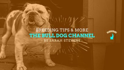 YouTube Banner Maker for Dog Channels 411a