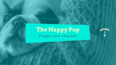 Youtube Banner Maker with Puppy Image 411b