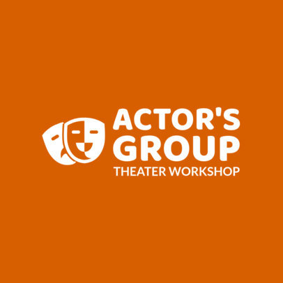 Online Logo Maker for a Theater Company with Theater Masks 1301a