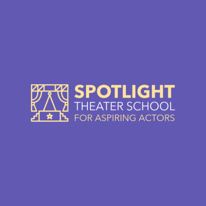 Logo Template for Acting Schools with Minimalist Icons 1301c