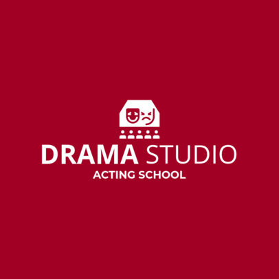 Custom Logo Maker for Drama Schools with Theatre Icons 1301e