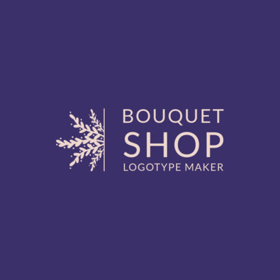Online Logo Maker for a Bouquet Shop 1271d