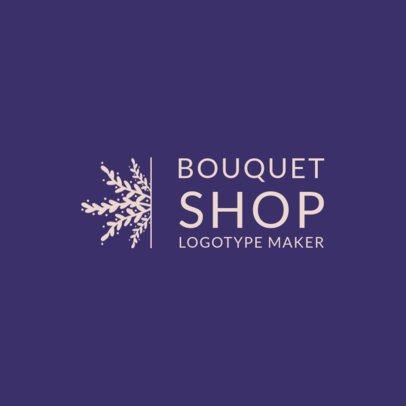 Online Logo Maker for a Bouquet Shop 1271d
