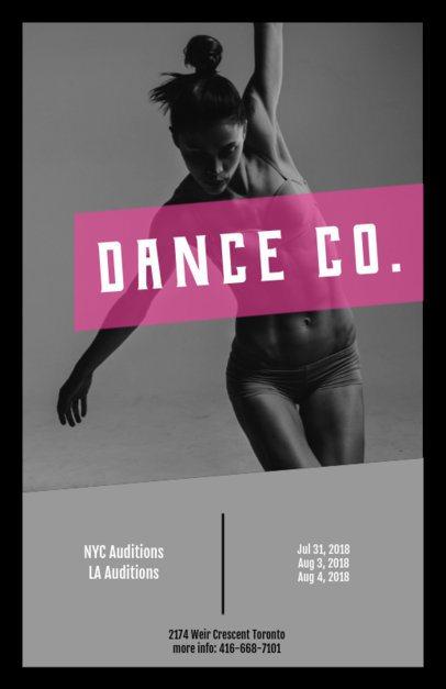 Online Flyer Maker for Dance Auditions 427b