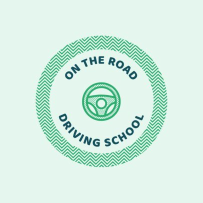 Logo Template to Make a Logo for a Driving School 1295c