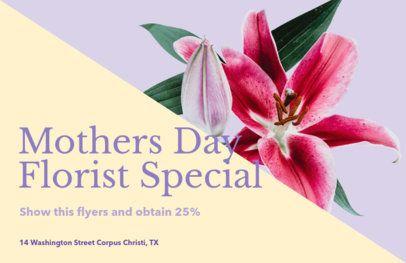 Online Flyer Maker for Event Florists 425b