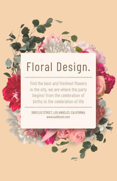 Flyer Maker for Floral Designers with Pastel Colors #434c