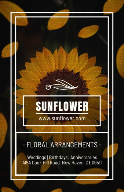 Online Flyer Maker for Florists with Sunflower Background 440a