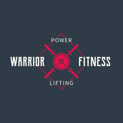 Gym Logo Maker for Weightlifting Gyms 1266a