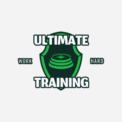 Logo Maker for Weight Training Programs 1266e